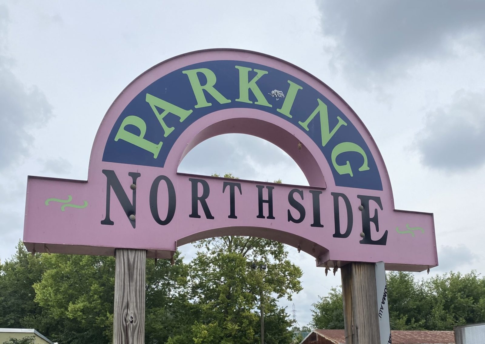 original northside parking sign