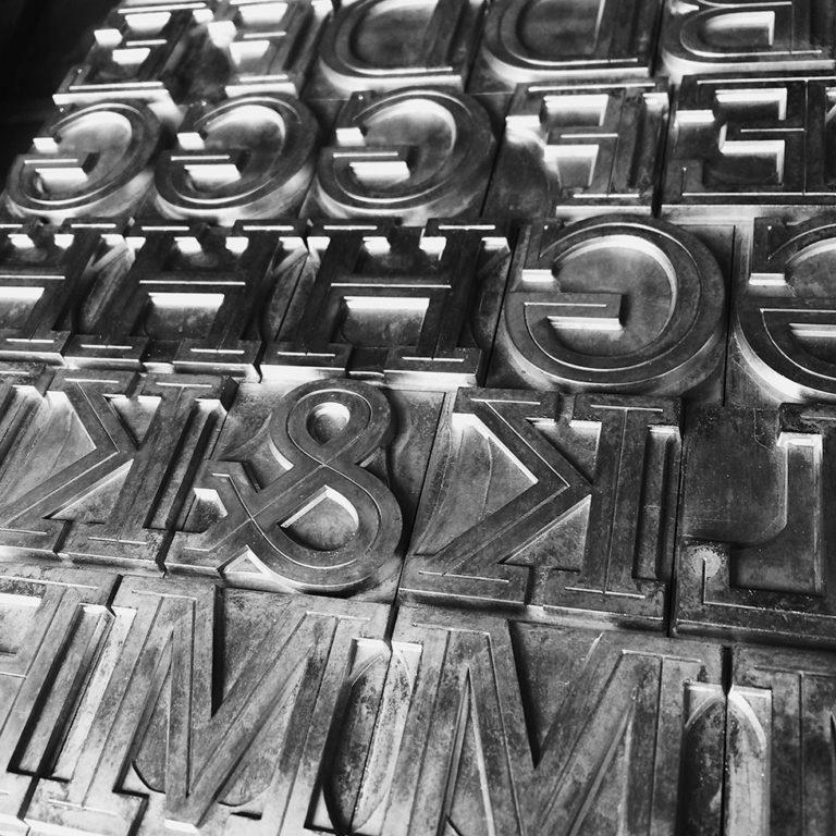 metal type Stymie font