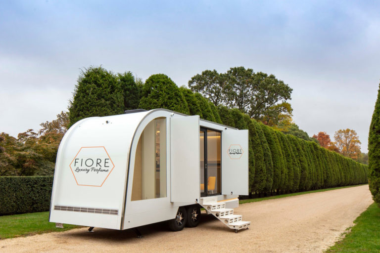 Trailer with store inside
